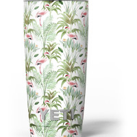 The Tropical Flamingo Jungle Scene Yeti Rambler Skin Kit