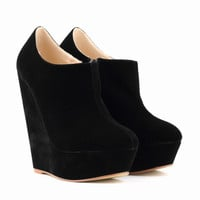 Platform Suede Heights Wedge Booties