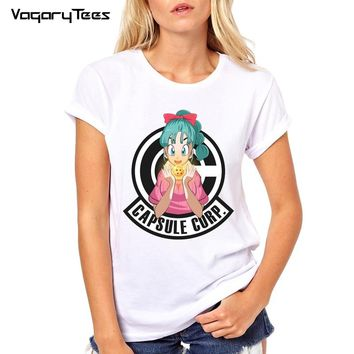 New fashion Capsule Corporation logo letter printed Women's customized t-shirt Dragon Ball Z hipster tops casual cool tee