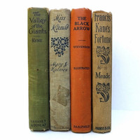 Antique Shabby Vintage Books / Book Decor / Decorative Books / Antique Books / Shabby Chic Books / Home Decorating / Instant Library