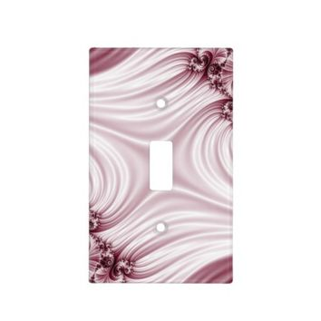 Pretty pink fractal. Silk imitation. Light Switch Cover