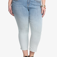 Torrid Cropped Skinny Jean - Dip-Dye Light Wash
