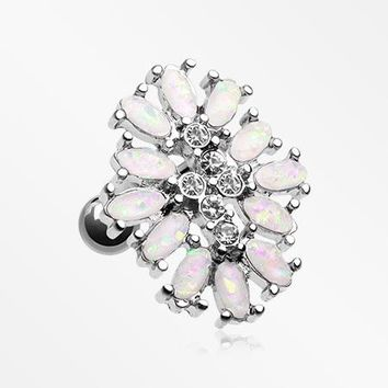 Opal Gliia Delight Flower Cartilage Tragus Earring