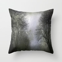 Shrouded in Mist Throw Pillow by Ally Coxon
