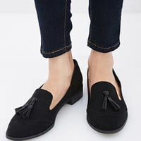 Faux Suede Tassel Loafer