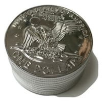 Herbal Grinder Aluminum 3 Piece (U.S. Coin)