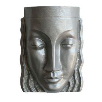 Pre-owned Art Deco Style Sculptural Female Face Wall Sconce