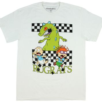 Nickelodeon Rugrats Shirt Tommy And Chuckie Run From Reptar Character T-Shirt