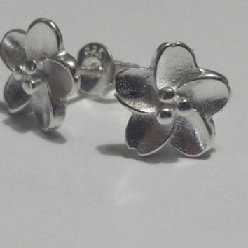 Sterling Silver Earrings - Cherry Blossom - Flower Earrings - Stud Earrings