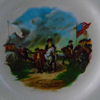 1976 US Bicentennial Commemorative Plate John Trumbull Art Surrender of Cornwallis  Griffith Pottery PA Revolutionary War