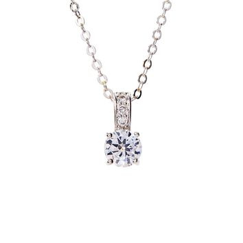 Chloe Necklace 18K White Gold Plated