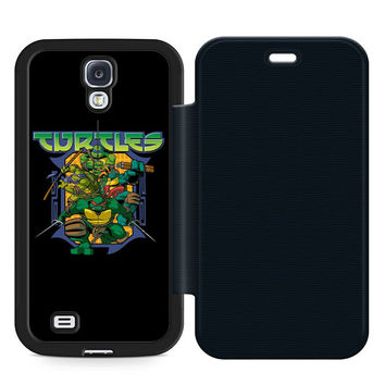 Ninja Turtles Movie Leather Wallet Flip Case Samsung Galaxy S4