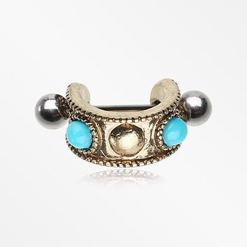 Vintage Turquoise Tribal Cartilage Cuff Earring