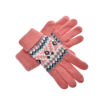 Yan & Lei Women's Trees and Flower Stem Knitted Winter Gloves with Roll Up Cuffs in 6 Colors