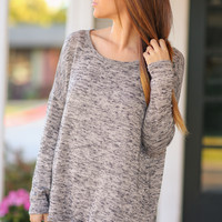 Hint of Lace Sweater - Taupe