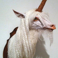 Fantasy Taxidermy Unicorn by luciddreamerart on Etsy