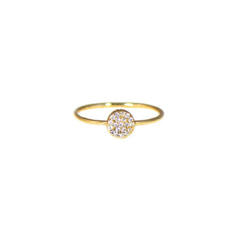 Pave Tiny Disc Ring