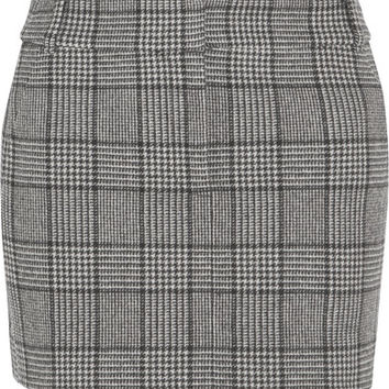 Tibi - Aldridge checked wool-blend tweed mini skirt