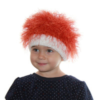 Baby hats / Cabbage Patch Kids Hat  / Beanie Wig  /  fuzzy hat / Baby costume / Halloween  / Pumpkin /  troll wig / Raggedy Ann and Andy