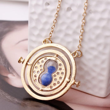 360° Time Hourglass Necklace