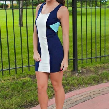 Born Blue Bodycon Dress