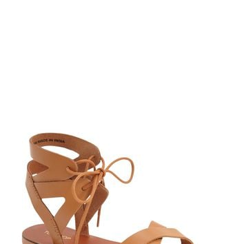 Topshop 'Herb' Lace-Up Flat Sandal (Women) | Nordstrom