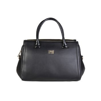 Cavalli Class Black Leather Handbag