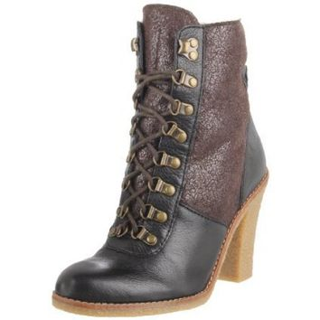 Sam Edelman Women`s Tara Ankle Boot,Black/New Brown,7.5 M US