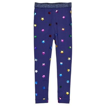 Stella McCartney Girls Shimmering Star Leggings