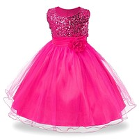 Pinky Girl PArty Dress