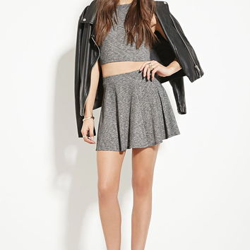 Marled Knit Skater Skirt