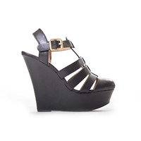Closed Toe Black Wedges