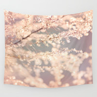 Delicate Flowers Wall Tapestry by Whimsy Romance & Fun