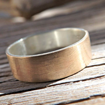 bronze wedding band, mens wedding ring, mens personalized ring bronze, mens ring silver bronze, rustic mens ring, ring anniversary gift