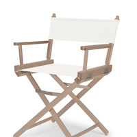 Rustic Grey Heritage Director Chair - Dining Height - White Cover