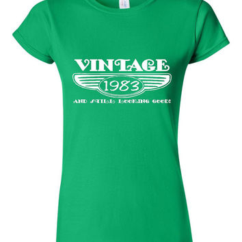 Vintage 1983 And Still Looking Good 32nd Bday T Shirt Ladies Men Style Vintage Shirt happy Birthday T Shirt