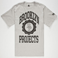 Brooklyn Projects Logo Mens T-Shirt Silver  In Sizes