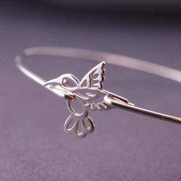 Lotus Flower Bangle Bracelet Hand Stamped Jewelry 2016 Spring Sterling Jewelry