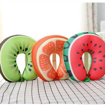Fruit Print U-Shaped Foam Travel Pillow