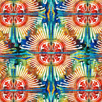 Pattern Art - Color Fusion Design 2 By Sharon Cummings