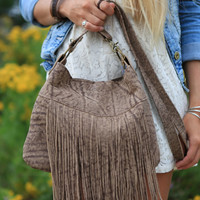 Leather Fringe Bag, Brown Leather Bag, Cross Body Purse, Distressed Leather Bag, Southwestern Bags, Leather Purse, Fringe Bags