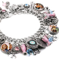 Fifties Charm Bracelet, Rock in Roll Jewelry