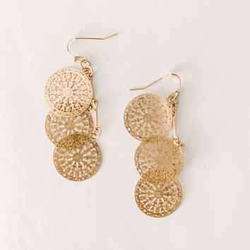 Aspen Gold Cut Out Earrings