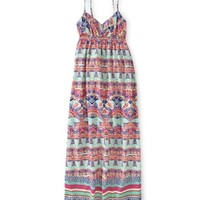 Aeropostale Womens Geometric Floral Maxi Dress 828 Xs