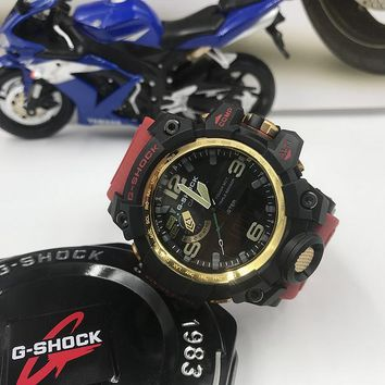 DCCK C011 Casio G Shock GWG-1000 Plastic Straap Fashion Electronic Watches Black Red Gold 2