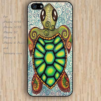 iPhone 5s 6 case tortoise flowers dream catcher colorful phone case iphone case,ipod case,samsung galaxy case available plastic rubber case waterproof B592