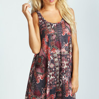 Polly Printed Swing Dress