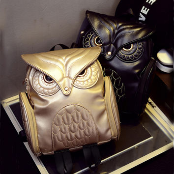 Newest X Feeling Fashion Gothic Design Women Backpacks Owl Stylish FREE SHIPPING