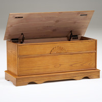 Oak Cedar Lined Blanket Chest