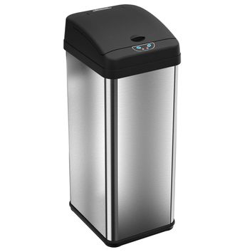 iTouchless 13-gallon Touchless Motion Stainless Steel Trash CaniTouchless 13-gallon Touchless Motion Stainless Steel Trash Can